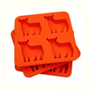 China Custom FDA 4 cavity Silicone Cake Moulds , silicone chocolate molds wholesale