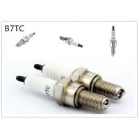 China platinum Material two wheeler spark plug 19mm Reach Flat Seat 7 Heat Range wholesale