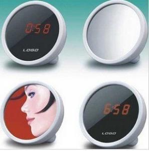 China best sell LED alarm clock mirror creative alarm clock LED clock on sale