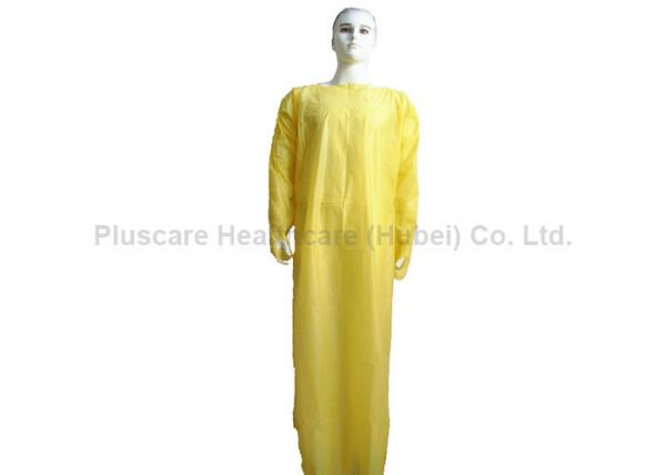 Quality Impervious Disposable Hospital Gowns , CPE Protective Disposable Patient Gowns for sale