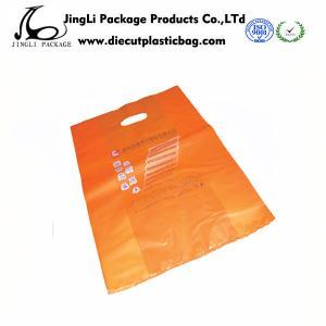 China Orange Die cut Plastic bag degradable plastic Bags for advertising wholesale