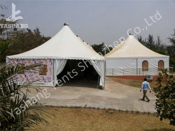Quality 10 x 10 German Style High Peak Tents , wedding decoration tent Aluminum Alloy Profile for sale
