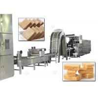 China Gas Heating Wafer Biscuit Production Line , Wafer Snack Biscuits Making Machine 110 Kg / H wholesale