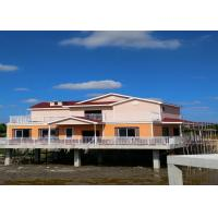China Lightweight Prefab Steel House Over The River With Asphalt Shingle Tile Cement Board Wall wholesale