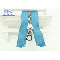 China Customized 22 Inch Heavy Duty Separating Zippers , Multi Color Tape Long Coat Zippers wholesale