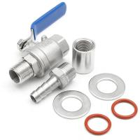 "China Stainless Steel Ball Valve 1/2"" Barb Pipe Weldless Compact Male thread NPT wholesale"