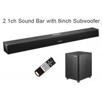 China Digital Home Theater Soundbar Speaker 2.1 Channel with Wired Subwoofer , 110W Max Output wholesale