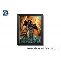 China Grimace Theme 3D Lenticular Pictures With Black Plastic Frame / Lenticular Photo Printing wholesale