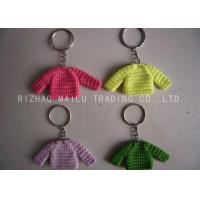 China Knitted Christmas Tree Decorations Four Color Crochet Sweaters With Metal Chain on sale