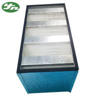 China Galvanized Frame Mini Pleat HEPA Filter / V Bank HEPA Filter For Clean Room on sale