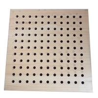 China Moisture proof Convention Hall Perforated Wood Acoustic Panels Noise Reduce Board on sale