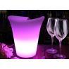 China Nightclub Flashing Beer Buckets , Customized Logo LED Illuminated Ice Bucket wholesale