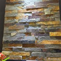 China Natural Stone Quartzite Stone Veneer , Rust Slate Mini Panel Cultured Stone on sale
