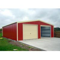 China Easy Build Light Structure Steel Garage Buildings 125mm 150mm Thickness Optional wholesale