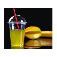 China 480ml 16oz Plastic Smoothie Cups Disposable , Bubble Tea Cups on sale