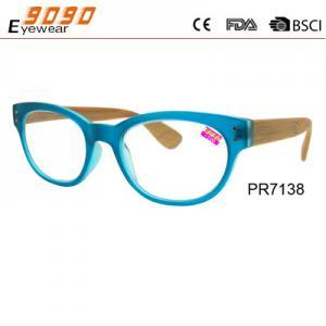 China Fashionable reading glasses,power range +1.0 to +4.00,made of wood wholesale
