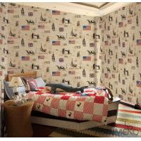 China Non Woven Paper Unisex Kids Wallpaper , 0.53*10M Modern Kids Wallcovering wholesale