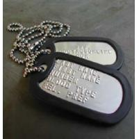 China Military Brass Dog Tag for People wholesale