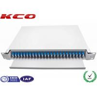 China 24 Port LC Duplex Single Mode Fiber Optical Patch Panel 1U Drawer Slide Type For Cabinet wholesale