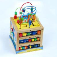 Happy Sea horse Colorful beads wooden Rack toy