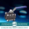 China Brass Cast Iron Ball Valve , Pressure Three Pieces Forged Ball Valve wholesale