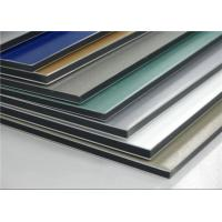China PVDF Coating ACP Wall Cladding Composite Aluminium Sheet Anti - Static RAL Standard wholesale