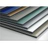 China PVDF Coating ACP Wall Cladding Composite Aluminium Sheet Anti - Static RAL Standard wholesale