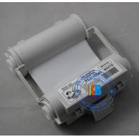 Compatible white color thermal barcode ribbon Max Bepop printer 120mm*55m for outdoors label sticker printing