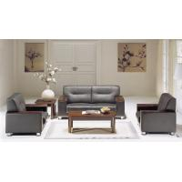 Buy cheap Brown leather Office Sofa Set CD-3610 with solid wooden arms and metal legs from wholesalers