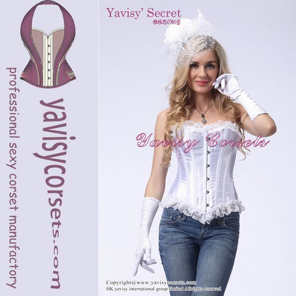 Quality new pattern plus size corset tops to wear out for sale