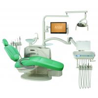 Environmental Leather Dental Chair Unit With Low Mounted LCD Function Display