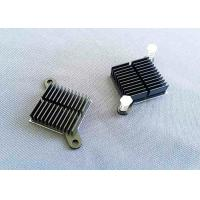 China Black Anodized Cnc Machined Components Aluminum Cooling Fin Radiator Heat Sink on sale