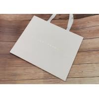 China Degradable Luxury Cloth carrying shopping bags SGS,FDA certificate with white fabric Handle and Hot stamped logo on sale