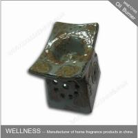 China Retro Design Ceramic Essential Oil Burner Gray Color For Home Decoration wholesale