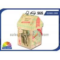 China Personalized House Shaped Rigid Decorative Paper Boxes Presentation Box With Ribbon wholesale