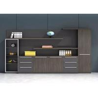 China Beautiful Gray Office Cabinets Wood , Boss Office Furniture Various Shapes Available on sale