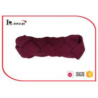 China Twist Braid Style Burgundy Knitted Snood Scarf Red Hooded Cowl Scarf wholesale