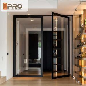 China Interior Pivot Revolving Modern Entry Doors Commercial Aluminium Glazing wholesale
