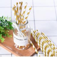 China Food Grade Bleached Metallic Paper Straws With Food Safe Non Toxic Ink on sale