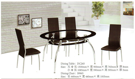 round morden glass dinning table
