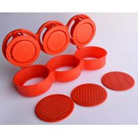 Buy cheap Triple Burger Presses Small Kitchen Tools Mini Red For Three Meat Patties from wholesalers