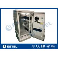China Single Wall Galvanized Steel Outdoor Communication Cabinets Grey Color RAL7035 on sale