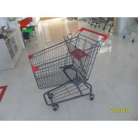 China Custom Logo Grocery Shopping Trolley For Metallic Distribute Store 125L wholesale