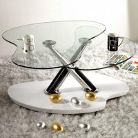 China 10MM Clear Shaped  Custom Tempered Glass For Occasional Furniture on sale