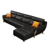 China 3 Seater Contemporary Living Room Sofa leather wood frame with low price wholesale