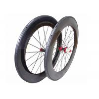 China 700C Chinese Carbon Road Bike Wheels 88MM With Straight Pull Powerway R36 Hub wholesale