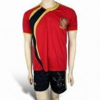 China Football/Soccer Jersey/Sports Wear, Various Sizes are Available, Made of 100% Polyester wholesale