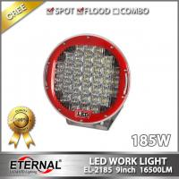 9in 185W led driving light for off road 4x4 buggy vehicles truck trailer crane truck excavator heavy duty Boating