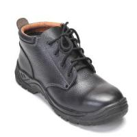China Embossed Buffalo Leather PU Injected Sole Safety Shoes Rh103 wholesale
