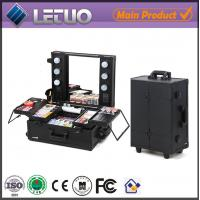 China wholesale professional makeup cases cosmetic case makeup case with lights wholesale